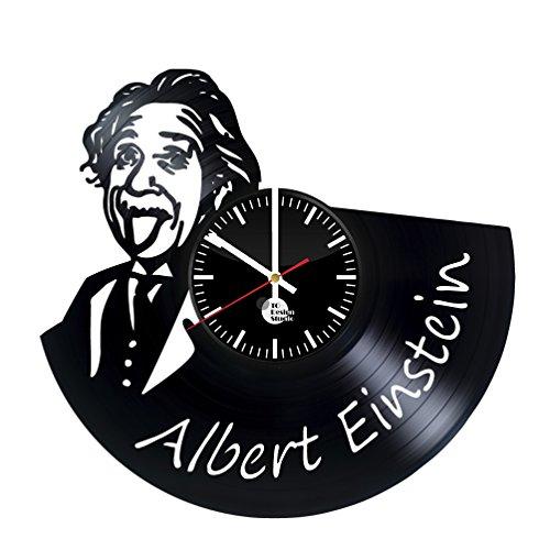 Albert Einstein Wall Decals Vinyl Record Wall Clock - Get un