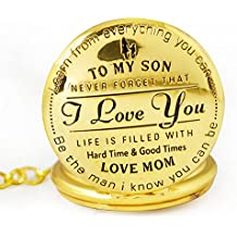 TERAVEX To My Son - Love Mom' Gift to Son | Mother to Gifts, Birthday, Fathers Day, Graduation Present with Gift Box