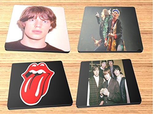 Rolling Stones Rock and Roll Album Reproduction on Neoprene Coaster Set of 4