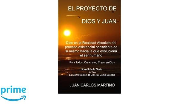 El Proyecto de Dios y Juan: Dios es la realidad absoluta del proceso existencial consciente de si mismo hacia la que evoluciona el ser humano: Volume .