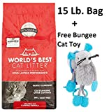 World's Best Cat Litter Multiple Cat Clumping Formula (3 Packs + Freebie)