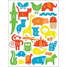 Oopsy Daisy Fine Art for Kids ABC Animalia - Primary Canvas Wall Art by Ampersand Design Studio, 30 by 40-Inch