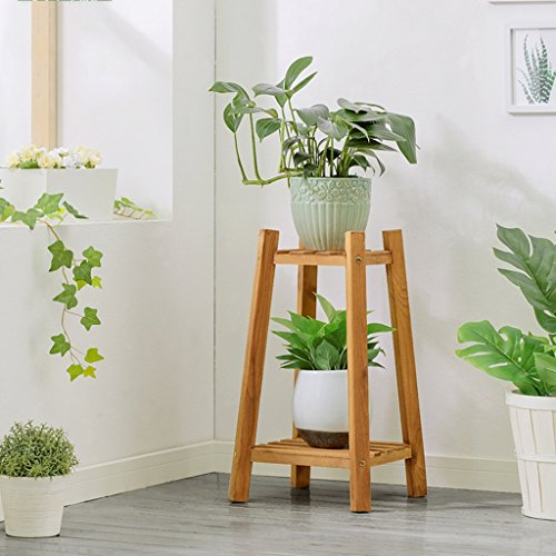 Flower Stand Wood Living Room Indoor Balcony Multilayer Floor-standing Flower Stand (Size : 60cm) from Flower Stands