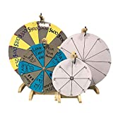 WoodWell 12 Inch Tabletop Spinning Prize Wheel