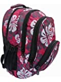 Backpacks for Skiing and Snow Boarding - Hand Luggage 30 Litre size Rucksack Daypack - Pink Flowers Print - Multiple Pockets and Compartments - Cabin Bag Carry On Bags - Roamlite RL82P