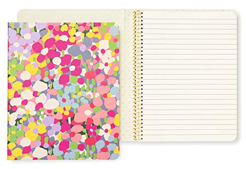 - Kate Spade New York Concealed Spiral Notebook with 112 Lined Pages, Floral Dot