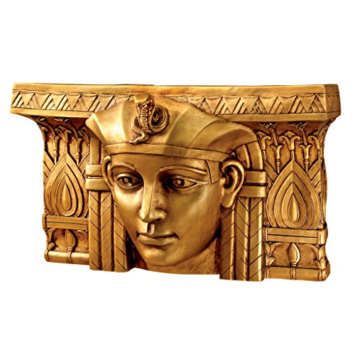 Design Toscano Pharaoh Rameses I Egyptian Ruler Wall Sculpture, Bronze