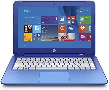 Amazon Com Discontinued Hp Stream 13 3 Inch Laptop Intel Celeron 2 Gb 32 Gb Ssd Horizon Blue Includes Office 365 Personal For One Year Computers Accessories