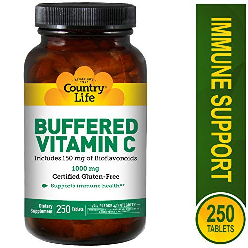 (Country Life, Vitamin C Buffered 1000mg with Bioflavs Time Release, 250 Tablets )