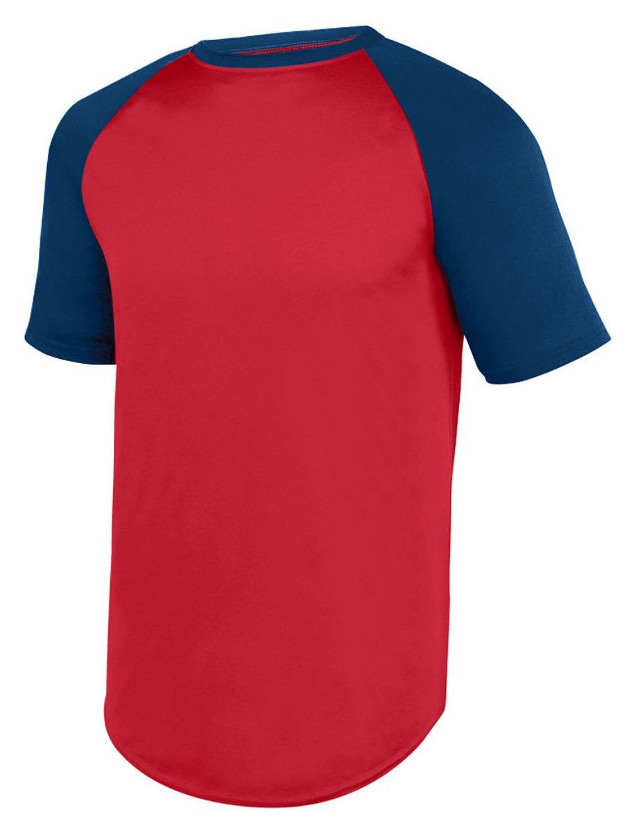 Augusta Sportswear Men's Wicking Short Sleeve Baseball Jersey 1508