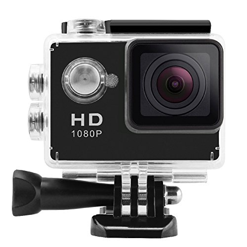 """Action Camera, 4K WiFi Action Camera Ultra HD Waterproof DV Camcorder 12MP 2"""" LCD 170°Wide-Angle Sports Camera..."""