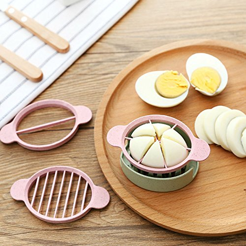 (Money coming shop Multifunction Wheat Straw Cut Egg Slicers Tools Dividers Preserved Egg Splitter Cut Eggs Kitchen Essential Cooking Tools)