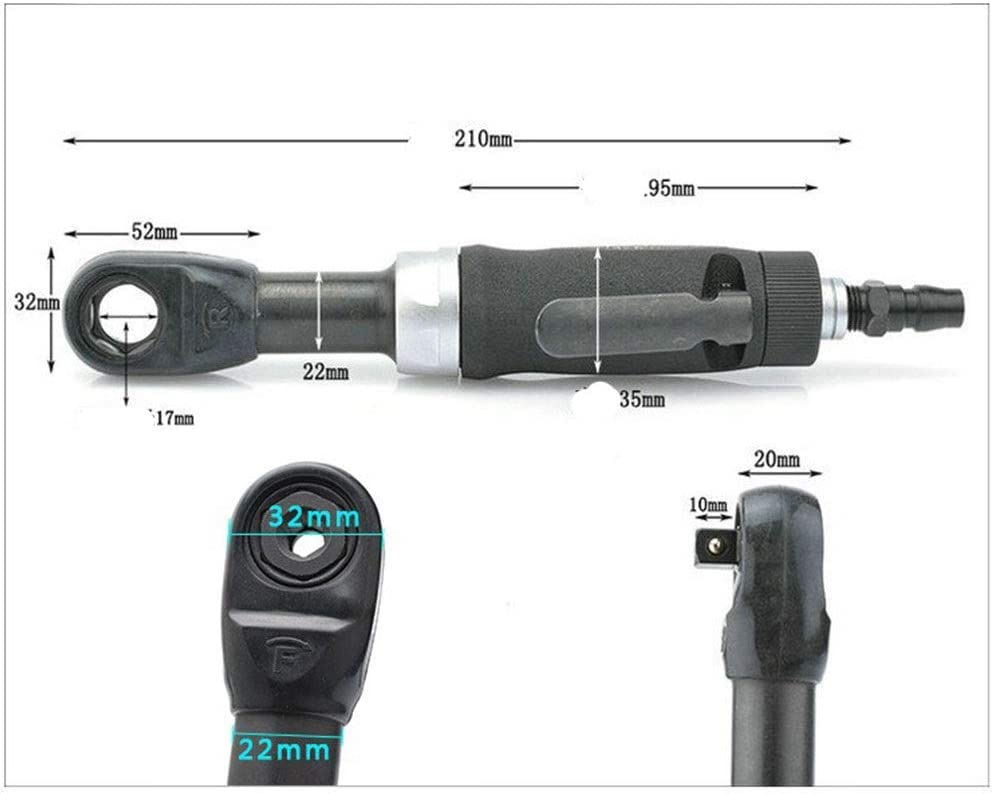 Angular Pneumatic Wrench Hand Tools Industrial Hand-held Pneumatic Socket Wrench Portable Practica Pneumatic Products Perforated Air Ratchet Wrench