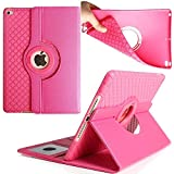 iPad 2017 New Cover 9.7 Inch, TechCode 360 Degree Rotating Stand PU Leather Case Protective Flip Folio Detachable Soft Rubber Cover for Apple 2017 New iPad 9.7 Inch