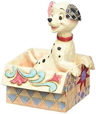"Enesco Disney Traditions by Jim Shore 101 Dalmatians Mini Lucky Personality Pose Stone Resin Figurine, 2.9"""