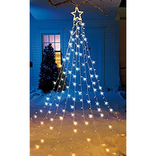 string light christmas tree with star - Amazon Outside Christmas Decorations