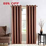 MEROUS Window Treatment Thermal Insulated Solid Grommet Blackout Curtains/Drapes for Bedroom (Set of 2 Panels,52 by 63 inch,Chocolate) Review