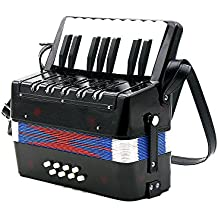 Andoer Kids Children 17-Key 8 Bass Mini Small Accordion Educational Musical Instrument Rhythm Band Toy