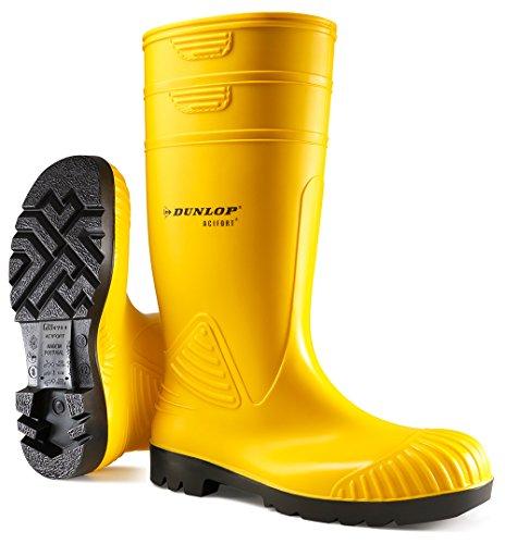 A442031 S5 KNIE 48 Unisex ZWART Agua amarillo de ACIF amarillo Botas Dunlop Hdqf1H