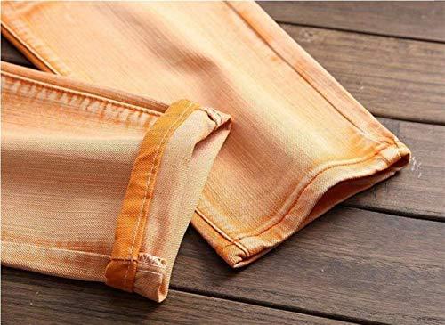 De Reality Ssig Delgados Denim Locomotive Algodón Pants Agujeros Brand Tide Skinny De Jeans Tide Gelb De Cher Vaquero Moda Vaquero Vaqueros Rectos 4ww6dqF