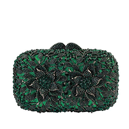 Cristal Sac Sac Soirée Diamants Main Green De à Le Luxe Femme U1WHYS0qSn