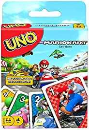UNO Mario Kart Card Game with 112 Cards & Instructions for Players Ages 7 Years & Older, Gift for Kid,