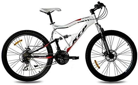 Kcp - Attack Bicicleta de Montaña, Tamaño 26 (66,0 Cm), Color Negro/Blanco, 21 Velocidades Shimano: Amazon.es: Deportes y aire libre