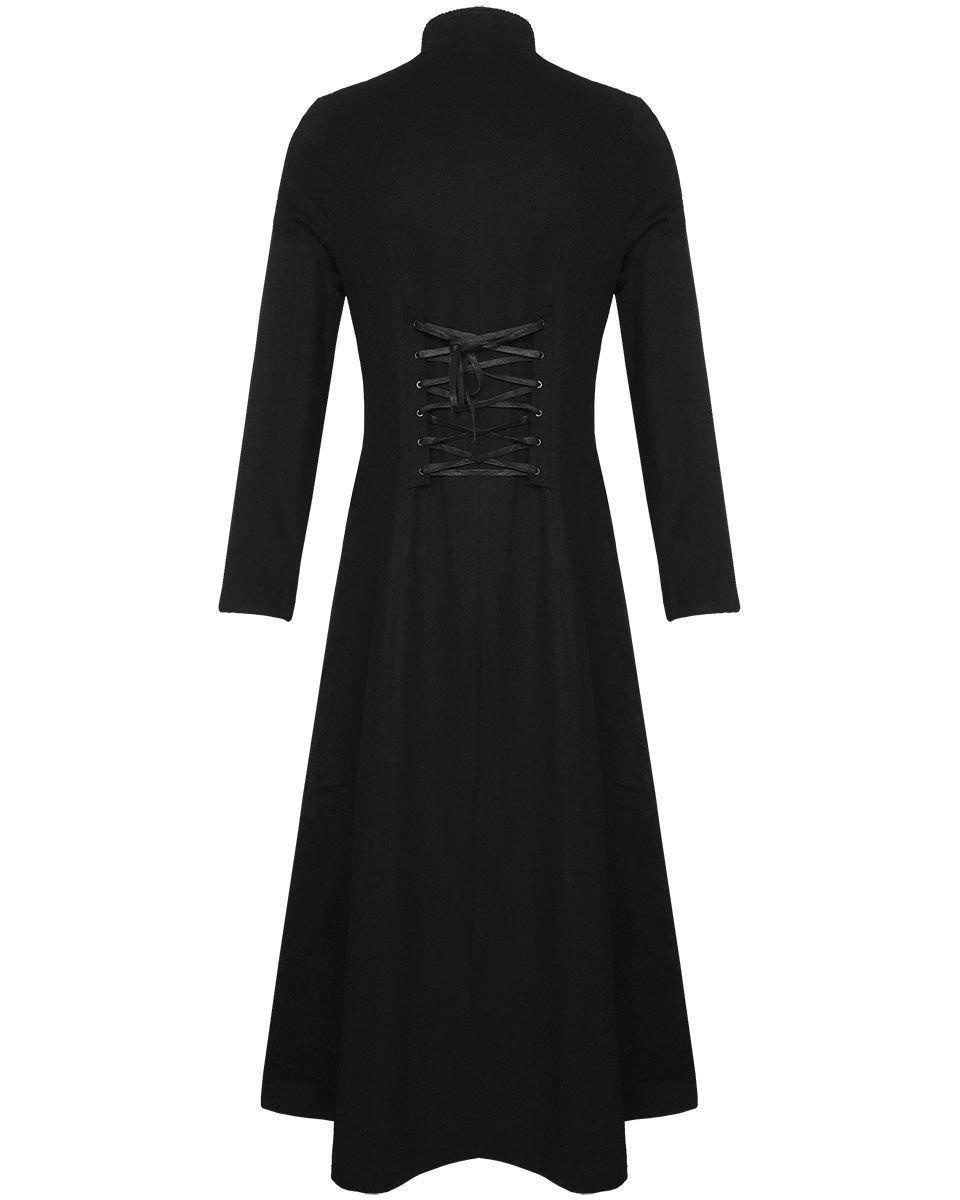 Darkrock Men's Cotton Twill Steampunk Jacket Goth Victorian/Military Style Trench Coat/USA Design/USA Sizes/Black,Red & Blue 4