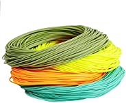 Unifishing Weight Forward Floating Fly Line 100ft Orange, Pink, Moss Green with 2 Welded Loops Fishing Line (1