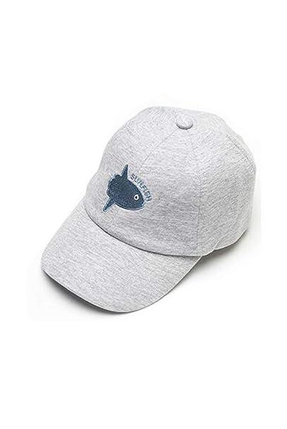 35ea7ea9 Kids Boys Baseball Hats Baby Cotton Sun Hat Infant Toddler Baseball Cap Gray