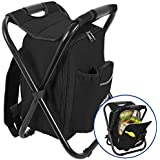 Outrav Black Backpack Cooler and Stool -...