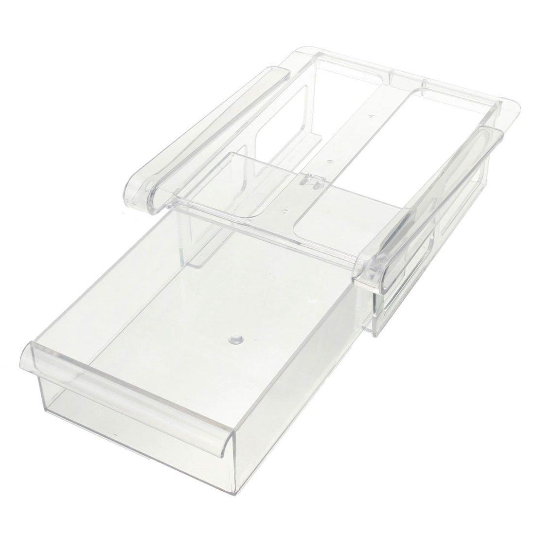 SODIAL 20.5X15X7.3Cm Einfache Kreative Reine Farbe K/üche Gefrierschrank K/ühlschrank Schublade Lagerregal Halter Slide Shelf Organizer Tools Wei?