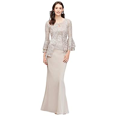 Tiered Bell Sleeve Glitter Lace Jacket Mother Of Bridegroom