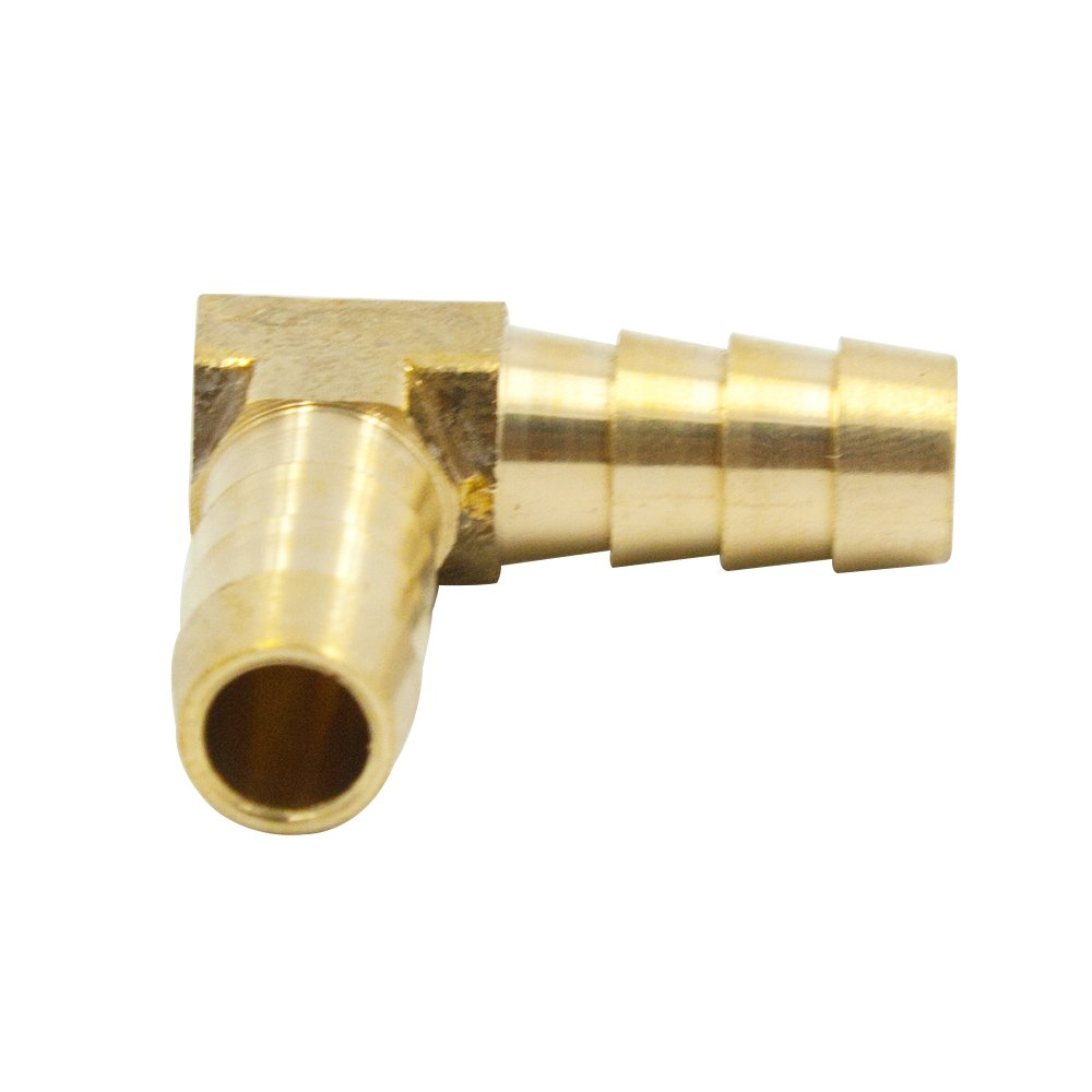 Legines Brass Hose Barb Fitting, 90 Degree Elbow, 5/8'' Barb x 5/8'' Barb, Air Water Fuel Oil Gas Connector, 2 pcs by Legines (Image #3)