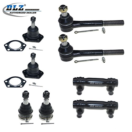 DLZ 8 Pcs Front Kit-4 Ball Joint 2 Outer Tie Rod End 2 Adjusting Sleeve Compatible with 1973-1974 Chevrolet Blazer RWD 1975-1986 Chevrolet C10 1973-1974 Chevrolet C10 Pickup 1975-1982 Chevrolet G10