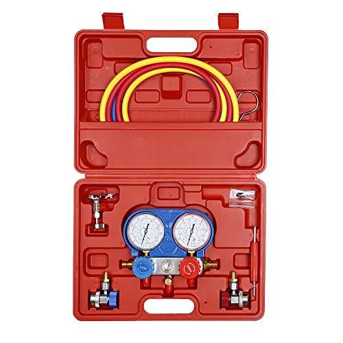 Bang4buck Universal Diagnostic Manifold Gauge Kit HVAC Air Conditioning Charging Service Set Ideal for R134A, R12, R22, R502 (Complete Manifold Gauge Kit)