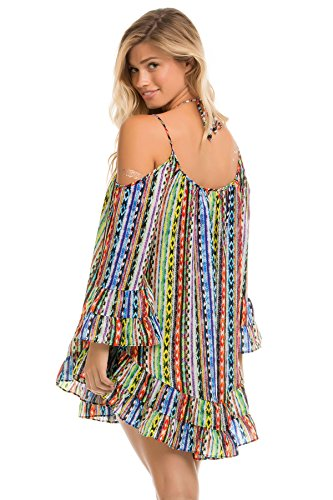 ale by Alessandra Women's Beach Blanket Dress Swim Cover Up Multi M/L by ale by Alessandra (Image #1)