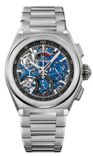 Zenith Mens Defy El Primero 21 44mm Titanium Skeleton Watch 95.9002.9004