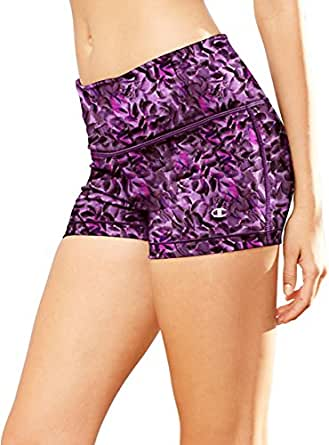 Champion Absolute Fitted Women's Print Shorts_Abstract Lilac Floral Embers_XL