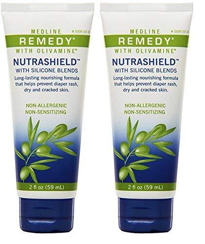 (Medline Remedy Nutrashield Skin Protectant, Unscented (4 ounce), 2 Pack )