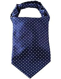 SetSense Men's Polka Dot Jacquard Woven Self Cravat Tie Ascot