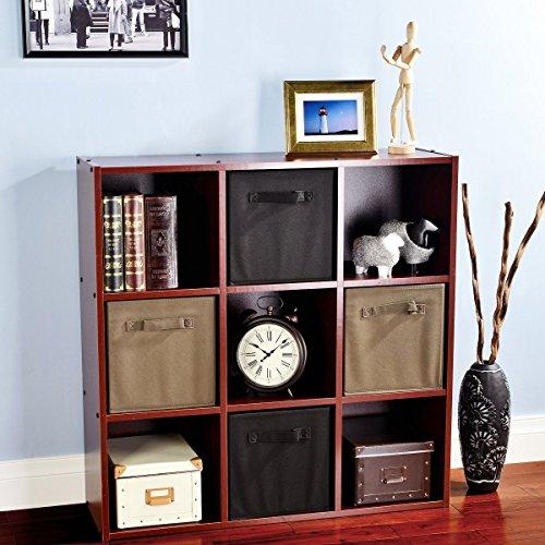 VCCUCINE Multipurpose Closet Shelves Storage Units 9 Cube Organizer, Dark Cherry