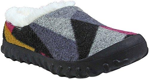 Bogs Women's Bmoc Slip On Wool Snow Boot, Dark Gray/Gold, 8 M US by Bogs