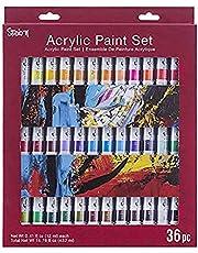 مجموعة ألوان طلاء أكريليك 30078221 متنوعة ستوديو 71 من داريس ألوان متعددة، أنابيب 12 مل، 36 قطعة