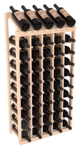Wine Racks America Ponderosa Pine 5 Column 10 Row Display Top Kit. Unstained