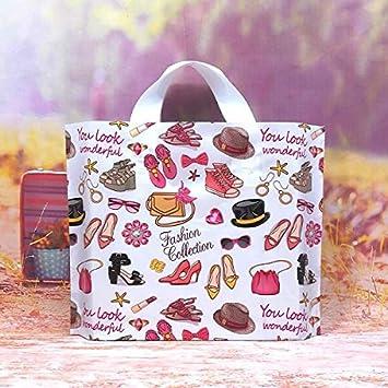 HOKUGA Custom Birthday Party Wedding Favor Thank You Gift Bags Plastic Pouches Shopping Big
