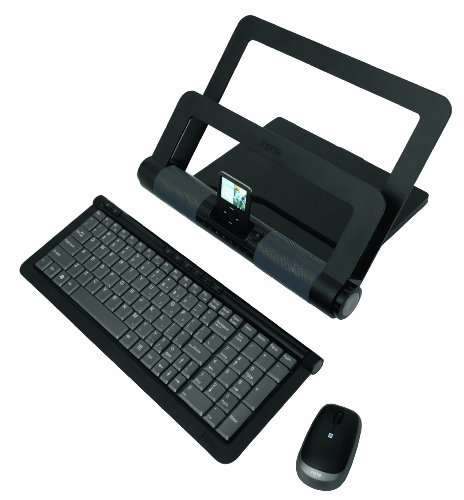 Lifeworks Technology iHome iStand Media Center Bundle with Wireless Keyboard and Wireless Laser Mouse (Black) ()