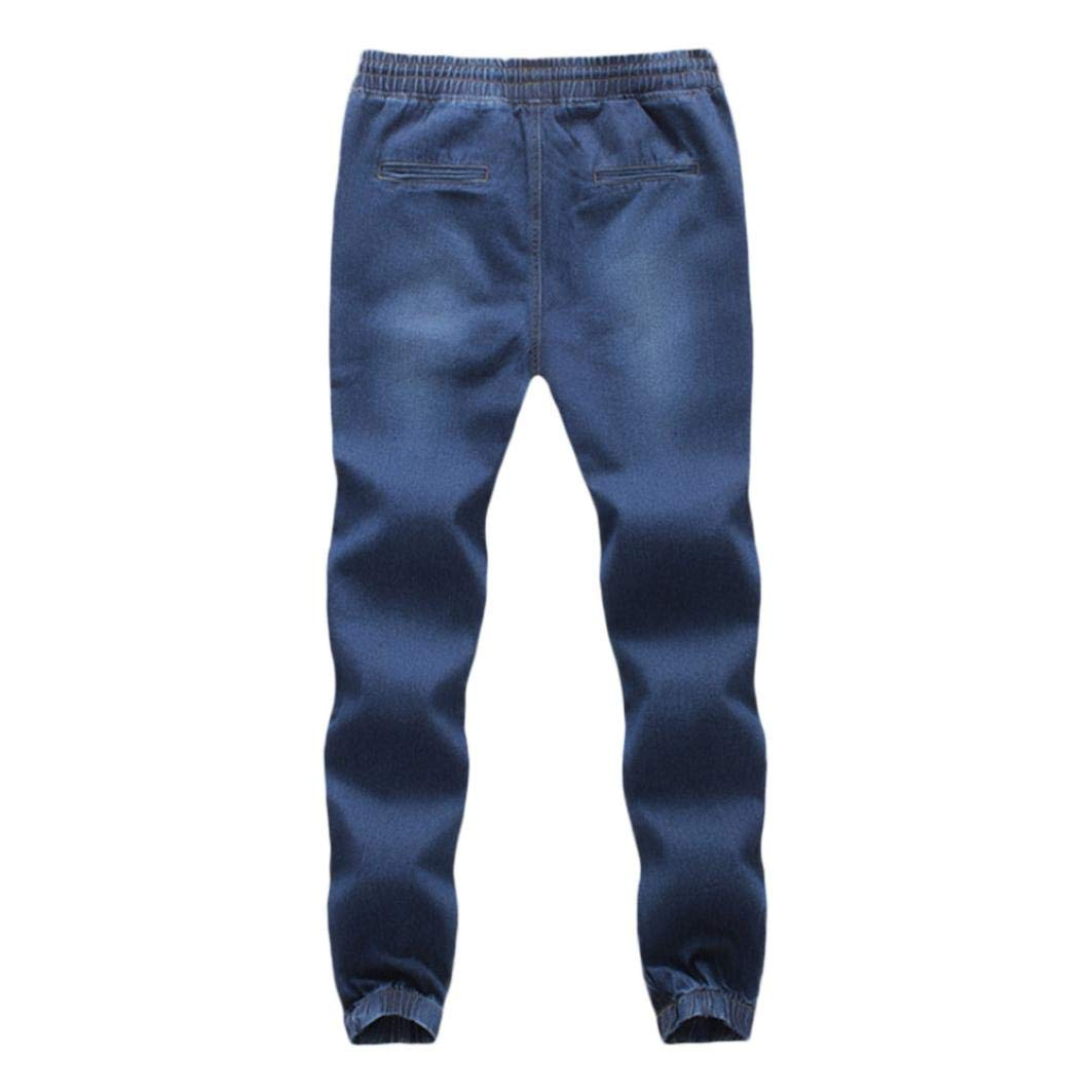 Realdo Clearance Sale, Casual Mens Denim Elastic Draw String Work Trousers Jeans Pants at Amazon Mens Clothing store: