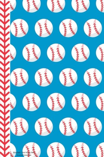 Baseball Red White Blue Journal Notebook: 100 Pages 6 x 9 Unlined Drawing Sketchbook Drawing Art Pages Paper Book Player Game Coach Team -
