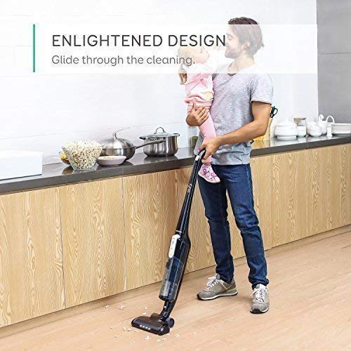 eufy HomeVac Lightweight Cordless Upright-Style Vacuum Cleaner, 28.8V 2200 mAh Li-ion Battery Powered Rechargeable Bagless Stick and Vacuum with Wall Mount - Black by eufy (Image #5)